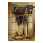 View under the Grand Portico, Philae Print