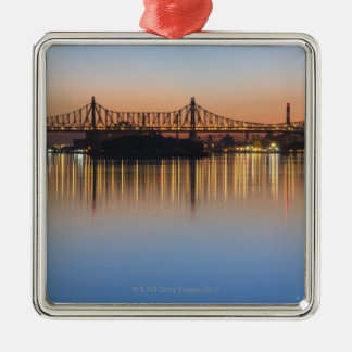 Viewed from Manhattan over the East River. Christmas Ornament