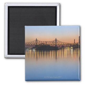 Viewed from Manhattan over the East River. Square Magnet