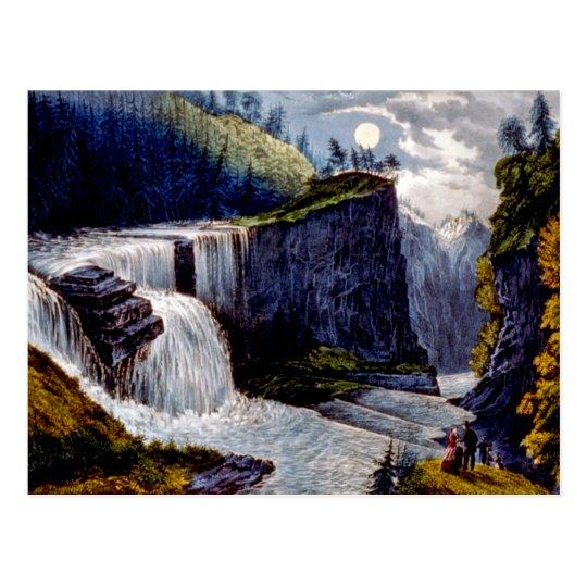 Viewing Down The Ravine At Trenton Falls NY Postca Postcard