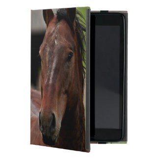 Viewing horses in a field in the Palouse Cover For iPad Mini