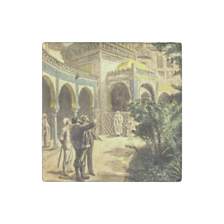 Viewing the Middle East Palace Vintage Victorian Stone Magnet