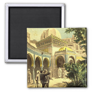 Viewing the Middle East Palace Vintage Victorian Fridge Magnets