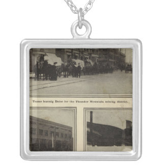 Views, Boise, Idaho Silver Plated Necklace