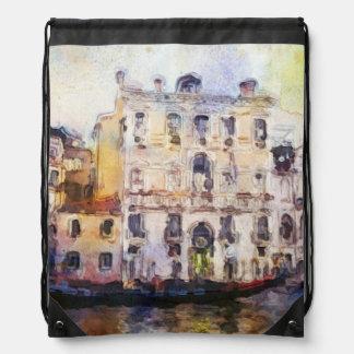 Views od Venice made in artistic watercolor Drawstring Bag