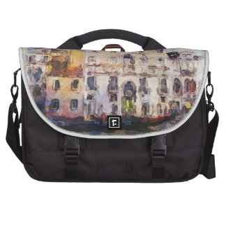 Views od Venice made in artistic watercolor Bags For Laptop