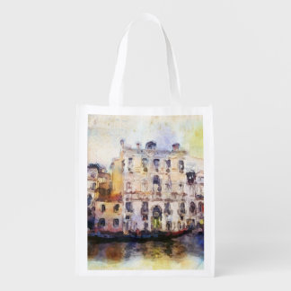 Views od Venice made in artistic watercolor Reusable Grocery Bag