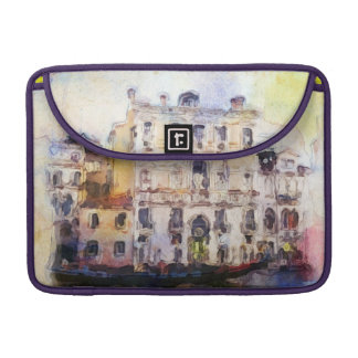 Views od Venice made in artistic watercolor Sleeve For MacBooks