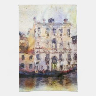 Views od Venice made in artistic watercolor Tea Towel