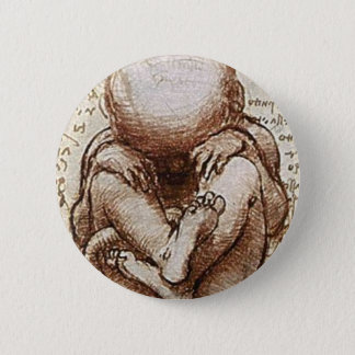 Views of a Foetus in the Womb detail 6 Cm Round Badge