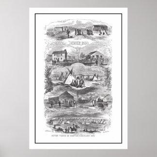 Views of Denver 1859 Poster