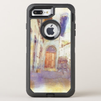Views of Florence made in artistic watercolor OtterBox Defender iPhone 8 Plus/7 Plus Case