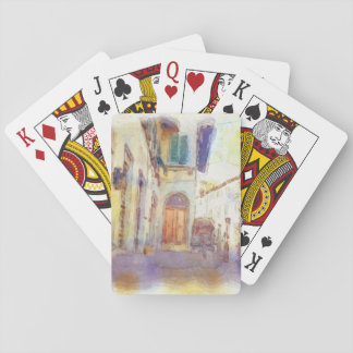 Views of Florence made in artistic watercolor Playing Cards