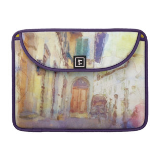 Views of Florence made in artistic watercolor Sleeves For MacBook Pro
