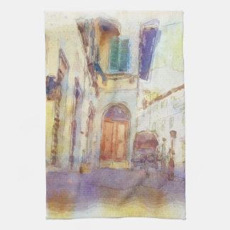 Views of Florence made in artistic watercolor Tea Towel