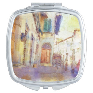 Views of Florence made in artistic watercolor Travel Mirrors