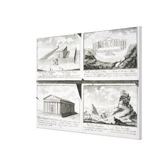 Views of four Classical Buildings: The Temple of O Canvas Print