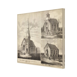 Views of German Catholic Churches in Minnesota Canvas Print