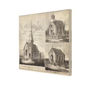 Views of German Catholic Churches in Minnesota Canvas Prints