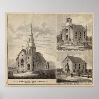 Views of German Catholic Churches in Minnesota Poster