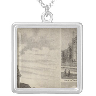 Views of German Catholic Churches in Minnesota Silver Plated Necklace