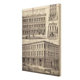 Views of Moore's and Wabashaw, Minnesota Canvas Print