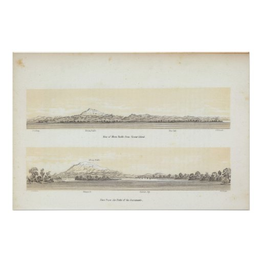Views of Mt Diablo Poster