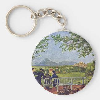 Views Of Salzburg By Julius Schnorr Von Carolsfeld Key Chain