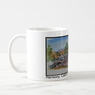 Views of San Luis Obispo, Harmony California Basic White Mug