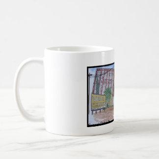 Views Of San Luis Obispo, Sunset Drive-In Basic White Mug