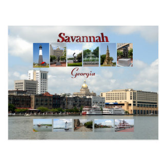 Views of Savannah Georgia Postcard