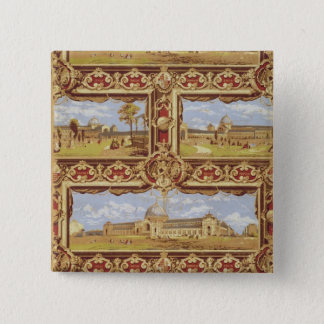 Views of the International Exhibition, 1862, Wallp 15 Cm Square Badge