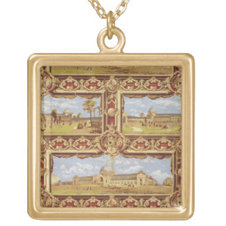 Views of the International Exhibition, 1862, Wallp Gold Plated Necklace
