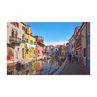 Views of the island of Burano. Part 5. Canvas Print