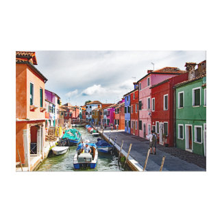 Views of the island of Burano. Part 9. Canvas Print