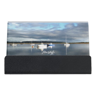 VIEWS OF WALES DESK BUSINESS CARD HOLDER