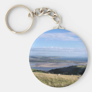 VIEWS OF WALES BASIC ROUND BUTTON KEY RING