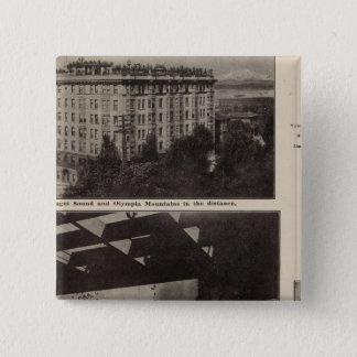 Views, Seattle 15 Cm Square Badge