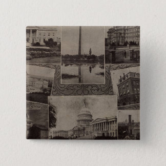 Views Washington, DC 15 Cm Square Badge