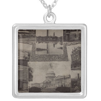 Views Washington, DC Silver Plated Necklace