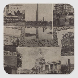 Views Washington, DC Square Sticker