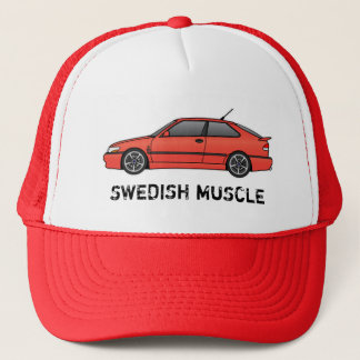 viggen_Red, SWEDISH MUSCLE Trucker Hat