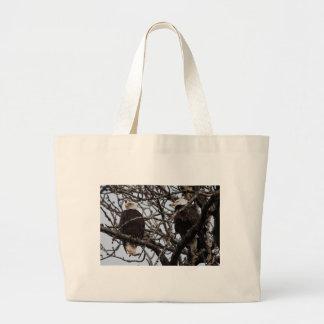 Vigilant Bald Eagles Jumbo Tote Bag