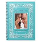 Vignette Bride's Wedding Planner Notebook (aqua)