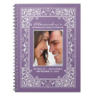 Vignette Bride's Wedding Planner Notebook (purple)