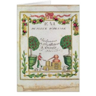Vignette of Eau de Fleur d Orange Greeting Card