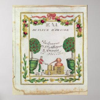 Vignette of Eau de Fleur d Orange Print