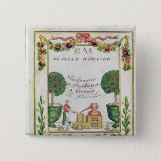 Vignette of 'Eau de Fleur d'Orange' 15 Cm Square Badge