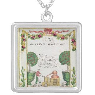 Vignette of 'Eau de Fleur d'Orange' Silver Plated Necklace
