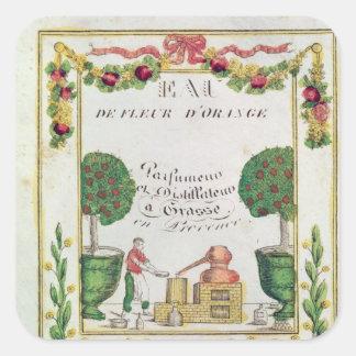 Vignette of 'Eau de Fleur d'Orange' Square Sticker